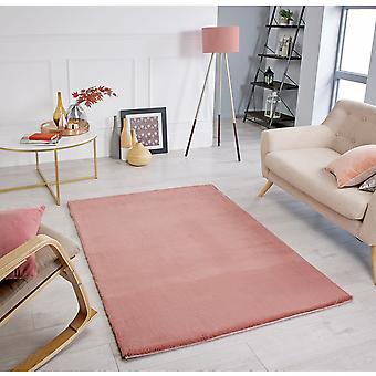 Comfy vaaleanpunainen suora kulmio matot Plain/lähes Plain matot