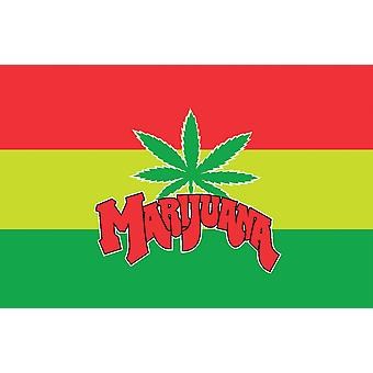5ft x 3ft Flag - Marijuana