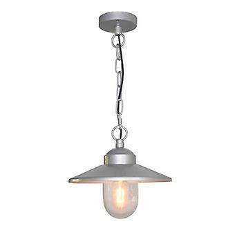 1 Light Outdoor Ceiling Chain Laterne Silber Ip44