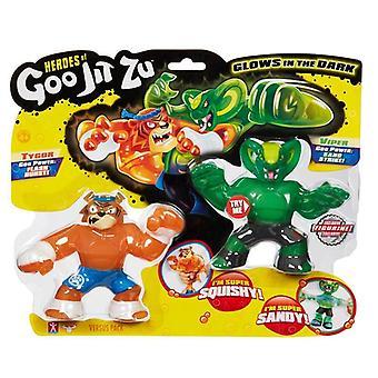Héroes de Goo Jit Zu Versus 2 Pack - Tygor Vs Viper