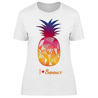 Pineapple I Love Summer Art Tee Women's -Image by Shutterstock