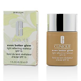 Clinique noch besser leuchten Licht reflektierenden Make-up SPF 15 - # CN 58 Honig 30ml / 1oz