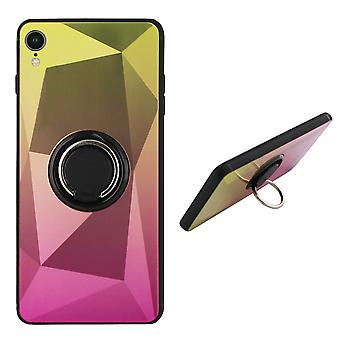 BackCover Ring / Magneet Aurora iPhone Xr Goud+Roze