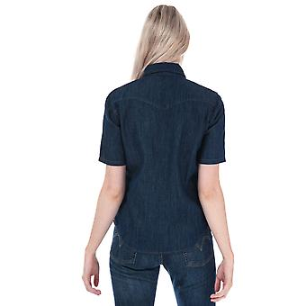 Womens Levi's Ultimate Ss Western Shirt In Super Dark Authentic