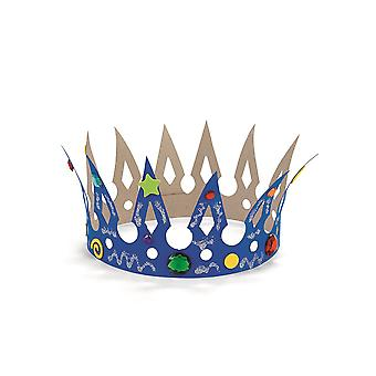 12 Design Your Own Blank Card Crowns to Colour & Decorate | Crown Making