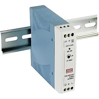 Rail mounted PSU (DIN) Mean Well MDR-20-12 12 Vdc 1.67 A 20 W 1 x