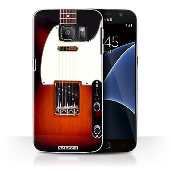 STUFF4 Case/Cover for Samsung Galaxy S7/G930/Sunburst Electric/Guitar