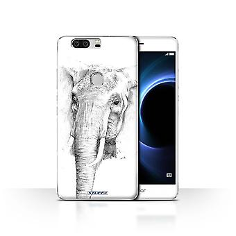STUFF4 Tilfelle/Cover for Huawei Honor V8/elefant/skisse tegning