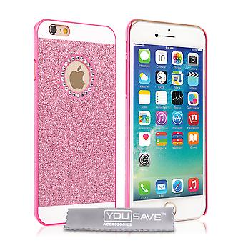 Yousave Accessories iPhone SE Flash Diamond Case Pink