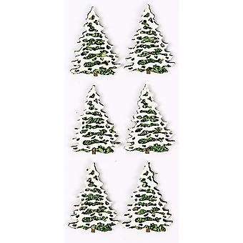 Little B Mini Stickers-Snow Covered Trees LBMINI-2233