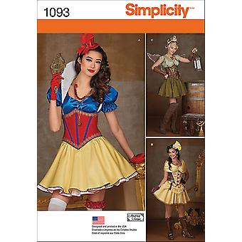 SIMPLICITY MISSES' COSPLAY COSTUMES-6-8-10-12-14 US1093H5