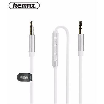 Remax S120 smart audio cable 3, 5mm with remote control white, speaker Smartphone