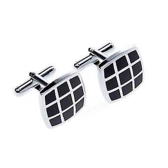 Marcell Sanders men's cufflinks black Lugano stainless steel