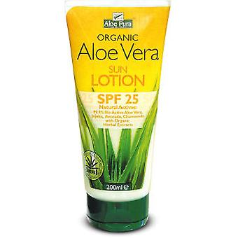 Aloe Pura Aloe Vera Sun Lotion Eco FP 25, 200 Ml (Beauty , Sun creams , Sunscreens)