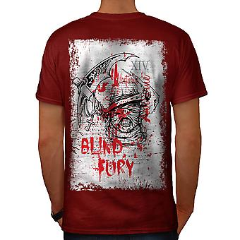 Blind Fury Gangster Gang Land Men Red T-shirt Back | Wellcoda