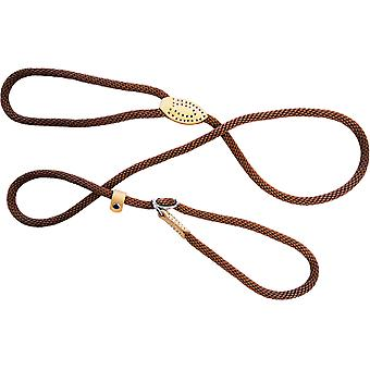 Dog & Co Supersoft Rope Slip Lead Brown 8mm X60