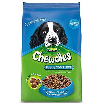 Chewdles komplet hvalp semi-fugtig kylling & Veg 15 kg