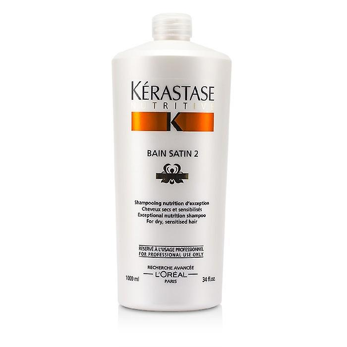 Kerastase Nutritive Bain Satin 2 Complete Nutrition Shampoo (For Dry & Sensitised Hair) 1000ml/34oz