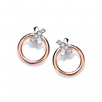 Cavendish French Silver and Rose Gold Dainty Earrings