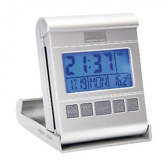 Balance Travel Alarm Clock Digital Silver