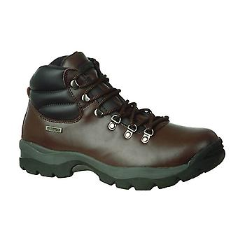 Hi Tec Eurotrek WP Mens Hiking Boots Textile Leather Lace Up Fastening Footwear