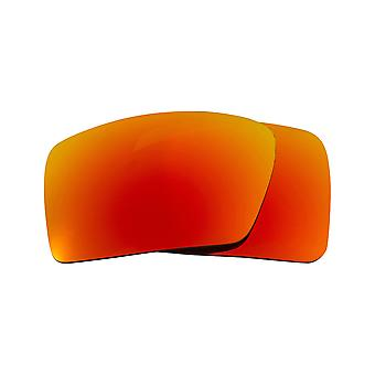 New SEEK Polarized Replacement Lenses for Oakley EYEPATCH 2 Fire Red Mirror