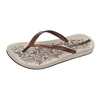 Ipanema Nature Womens Flip Flops / Sandals - Beige and Bronze
