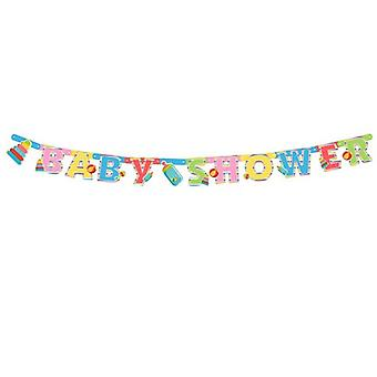 Baby shower greeting chain 240 cm baby party Babyshower