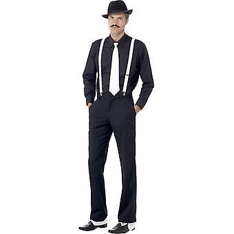 Gangster Set 20er Jahre Mafia Charleston Kostüm Set 5-teilig