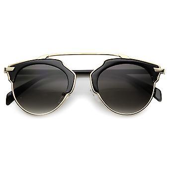 Unisex cuerno con montura gafas de sol con protección UV400 lente compuesto