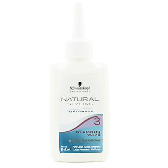 Schwarzkopf Professional 3 Natural Styling Glamour Wave Perm lotion 80ml