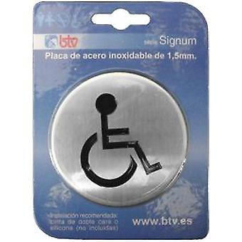 BTV Plate 'disabled' Inox 10 Cm (DIY , Tools , Security , Posters)