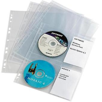 Durable CD/DVD SLEEVES WITH A SHEAR 5238-19 Transparent 4 CDs/DVDs