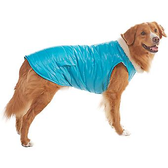 Dog Reversible Puffy Coat-Blue Extra Large 701637