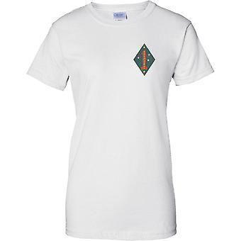 1. US-Marineinfanteriedivision USMC - Guadalcanal - militärische Insignia - Damen Brust Design T-Shirt