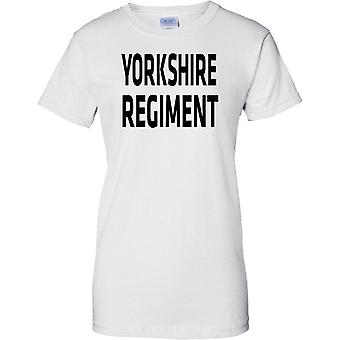 Licensed MOD -  British Army Yorkshire Regiment - Text - Ladies T Shirt