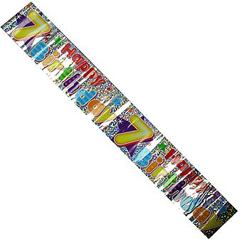 Celebration Party Banner 7th Birthday Decorations 2.6cm Long