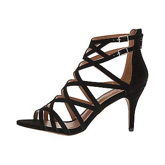 Report Womens Kareena Open Toe Special Occasion Strappy Sandals, Gold, Size 6.0