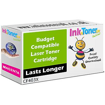 Compatible 201 X CF403X Magenta Toner pour HP couleur LaserJet Pro M252n