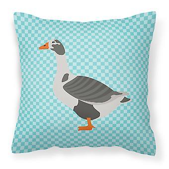 Vest i England Goose blå sjekk stoff Dekorative Pillow