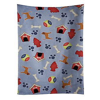 Carolines Schätze BB4050KTWL Hund Haus Sammlung Bloodhound Küchentuch