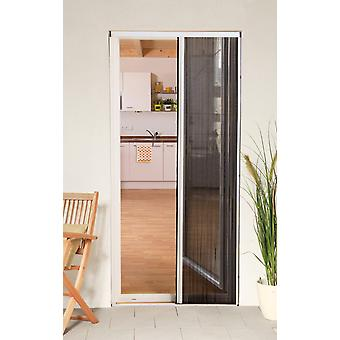 Fly screen door Kit insect protection pleated door 125 x 220 cm white