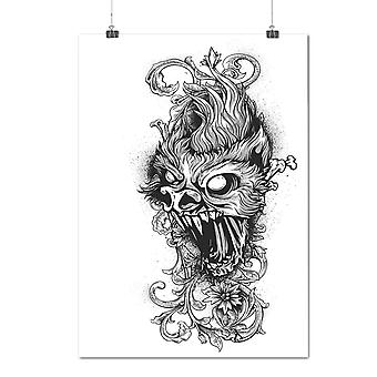 Matte or Glossy Poster with Dragon Hell Beast Horror | Wellcoda | *d1252