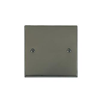 Hamilton Litestat Cheriton Victorian Black Nickel Single Blank Plate