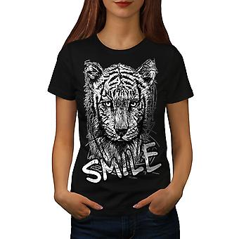 Smile vildt søde dyr kvinder BlackT-skjorte | Wellcoda