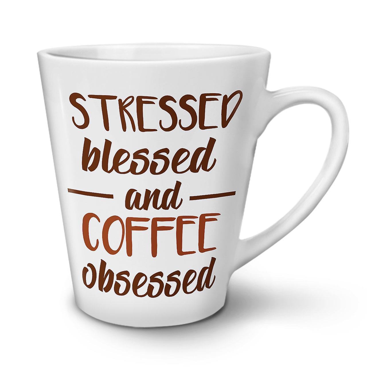 Bénisse Café En Nouveau Thé Stress Mug Latte OzWellcoda À 12 Céramique Blanc c4qARL35j