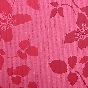 Designers Guild Pink Wallpaper Roll - Patterned Vinyl Design - Colour: P438-02