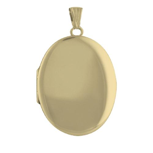 9ct Gold 35x26mm plain oval Locket