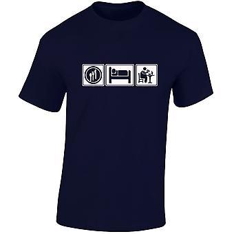 Eten slapen Fast Food Mens T-Shirt 10 kleuren (S-3XL) door swagwear