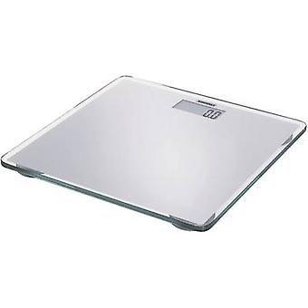 Digital bathroom scales Soehnle SLIM DESIGN SILVER Weight range=150 kg